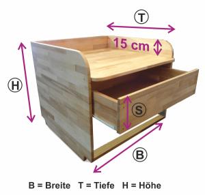 Wickelaufsatz ür Badewanne mit Schublade